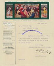 1908 letter re indoor roller skating on great letterhead from Liverpool, England