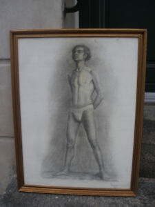 "Noormagi. Academy male nude. "" Sal ""  New York . Dated 1926. Rare !"