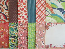 "DCWV Hippy Chic set B 12 sheets 8x8"" Scrapbook backing Papers paisley floral"