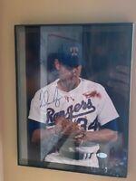 Nolan Ryan Texas Rangers Bloody Lip Signed Autographed 8x10 Photo