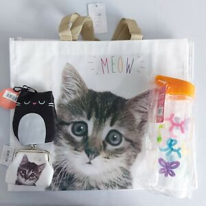 meow bag foldable shopping bag coin purse balloonanimal water bottle gift bundle