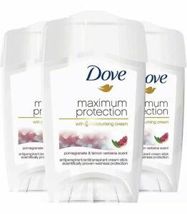 3 x Dove Maximum Protection Pomegranate & Lemon Antiperspirant Cream Stick 45ml