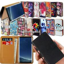 Leather Wallet Stand Magnetic Flip Case Cover For Samsung Galaxy SmartPhones