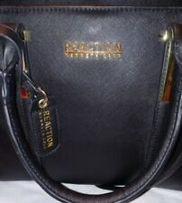 Kenneth cole reaction LARGE PURSE/TOTE BLACK.MANY COMPARTMENTS. ZIPS 2 STRAPS