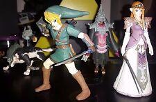 Legend of Zelda Twilight Princess Yujin Set of 4 Gashapon figure Link Midna Rare