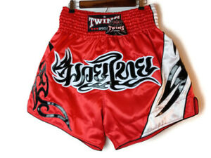 Twins Special Men's Size 4L Red/Black/White Muay Thai Shorts New NWT