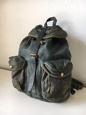 RARE RRL Indigo Leather Backpack Polo Ralph Lauren Double RL Lightly Used