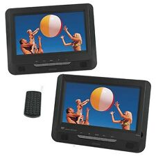 "22.75cm 9"" Dual Screen Portable DVD Player Usb Sd Reader Warranty No Retail Box"