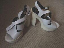 River Island Block Patternless Peep Toe Heels for Women