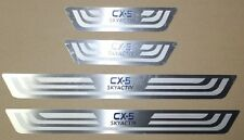 4x Mazda CX-5 Steel Thin Door Sill Scuff Plates for All Models 2013-16