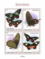 Sao Tome & Principe 2021 MNH Butterflies Stamps Cattleheart Butterfly 4v M/S