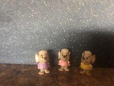 "Disney Three Mice PVC Figures 1"" Rare HTF Excellent"