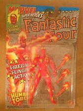Marvel Super Heroes Human Torch fIgure sealed MOC Toy Biz Fantastic Four 1992