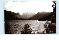 *Yachting Sailing Grand Lake Mt. Baldy CA RPPC Vintage Real Photo Postcard C66