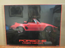 vintage Porsche Carrera Cabriolet 1985 car garage man cave poster 3761