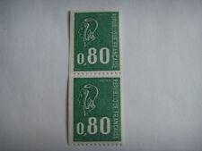 FRANCE paire 1894 vert 0,80:ROULETTE MARIANNE  BEQUET  non coté