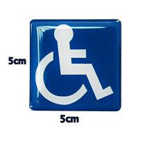 Neu Aufkleber Behindert Rollstuhl Behinderten Behindertenaufkleber Auto 5 x 5cm