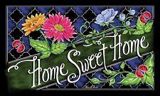 """Home Sweet Home Gerbera Daisy Flower Ladybug Indoor Outdoor Floor Mat 18"""" x 30"""""""