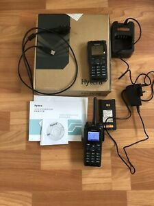 Hytera PD785G DMR + ANALOG Radio, boxed with charger and programming cable.