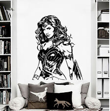 Wonder Woman Gal Gadot Justice League Super Hero Bedroom Decal Wall Art Sticker