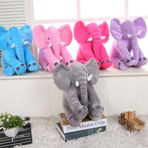 "24""Large Big Pillow Soft Plush Stuffed Elephant Animal Toy Teddy Bear kids Play"