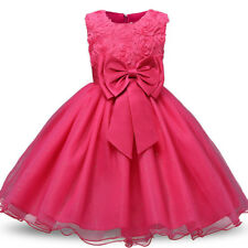 Flower Girls Princess Dress Kids Party Wedding Pageant Formal Lace Tutu Dresses