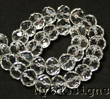 """Smoky Crystal Quartz Faceted Rondelle Beads 12"""" 17mm(CR08)e Gemstone"""