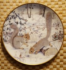 Woodland Year Squirreling for Nuts in January Plate Peter Barrett Franklin 1981