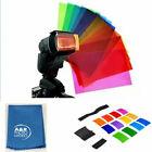 12pcs Flash Light Diffuser Filter Colors Card Film Set Nikon Canon Yongnuo Godox