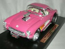 1957 CORVETTE GASSER IN HOT PINK & FLAMES ROAD LEDGENS 1:18 SCALE NEW.MIB