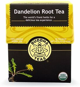 Dandelion Root Tea by Buddha Teas, 18 tea bag 1 pack