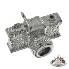 3D Novelty Camera Metal Pin Badge photographer dslr canon instagram fan AJTP52