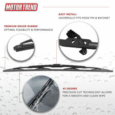 """Motor Trend Car Wiper Blades Size 24"""" All Season Direct Connect Car Front Window"""