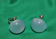 plastic button earrings screw back Stunning Sterling silver clip-on and