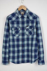 LEE REGULAR FIT QD L851IVLR Men's SMALL Snap Western Shirt 28064_JS
