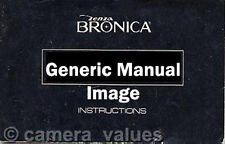 Bronica SQ-A M Instruction Book, More Manuals Listed