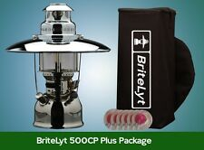 BriteLyt/Petromax USA 500CP Lantern with Reflector,Case multi dual-fuel lantern