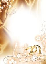 25 Blatt Motivpapier-5017 - DIN A4 - Hochzeit Ringe Heirat, Briefpapier TOP