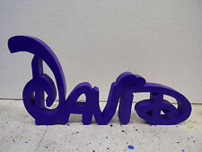personalised wooden freestanding name plaques  disney style kids £2 per letter