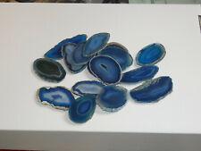 Achatscheiben blau
