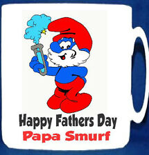 Papa Smurf Mug! Can be Personalised with any Name!  Great Fathers Day Gift Idea!
