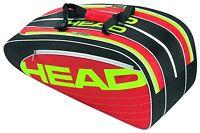 HEAD ELITE COMBI 6 PACK RED/WHITE - tennis racquet racket bag - Auth Dealer