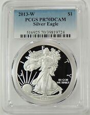 2013-W $1 AMERICAN SILVER EAGLE PROOF (ASE) PCGS PR70DCAM #39819724 DEEP CAMEO!!