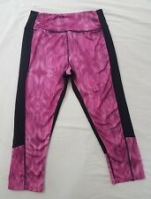 Kyodan Womens Pink Black Patterned Cropped Capris Athletic Yoga Pants X-Small