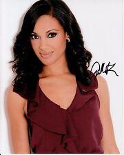 CYNTHIA ADDAI-ROBINSON hand-signed BEAUTIFUL 8x10 COLOR CLOSEUP w/ uacc rd COA