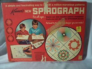 Vintage 1967 Kenner Spirograph No 401 Original Box Guides Tray Baseboard 2 Pens