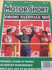 MOTORSPORT MAGAZINE OCT 1991 MANSELL STARS AT MONZA JO SIFFERT REMEMBERED