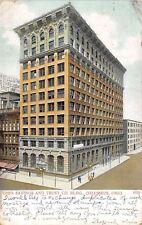 Columbus Ohio~Savings & Trust Co Building~Furniture~1907 Postcard