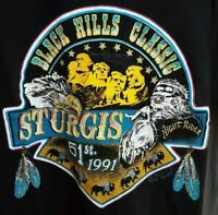 Vintage ~ 1991 ~ Sturgis Black Hills Classic 51st. Collectible Night Rider ~ L