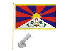 New listing 5' Wooden Flag Pole Kit W/ Nylon White Bracket 3x5 Tibet National Polyester Flag